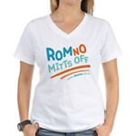 RomNO Mitts Off Women's V-Neck T-Shirt