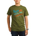 RomNO Mitts Off Organic Men's T-Shirt (dark)
