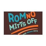 RomNO Mitts Off 35x21 Wall Decal