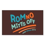 RomNO Mitts Off Sticker (Rectangle)