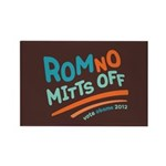 RomNO Mitts Off Rectangle Magnet (100 pack)