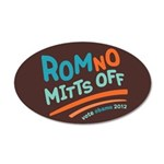 RomNO Mitts Off 20x12 Oval Wall Decal
