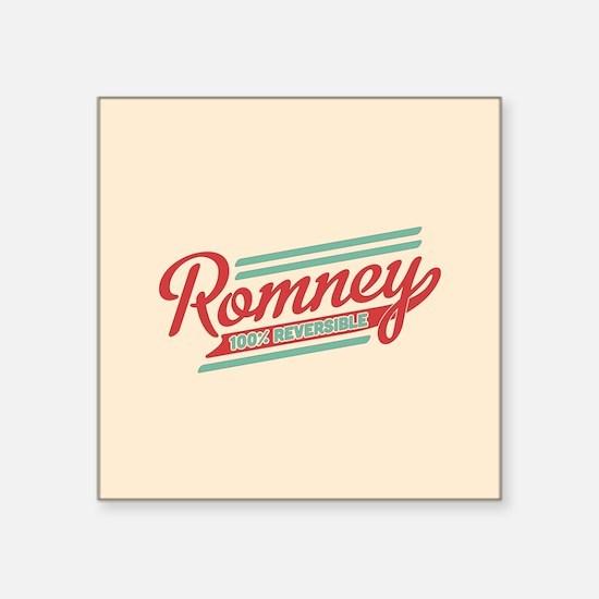 "Romney Reversible Square Sticker 3"" x 3"""