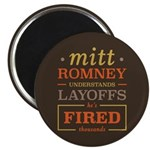 "Romney Layoffs 2.25"" Magnet (10 pack)"