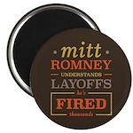 "Romney Layoffs 2.25"" Magnet (100 pack)"