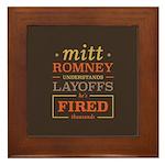 Romney Layoffs Framed Tile
