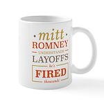 Romney Layoffs Mug