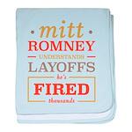 Romney Layoffs baby blanket