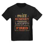 Romney Layoffs Kids Dark T-Shirt