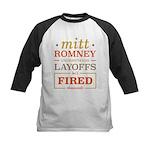 Romney Layoffs Kids Baseball Jersey