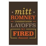 Romney Layoffs Large Poster