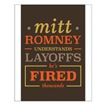 Romney Layoffs Small Poster
