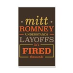 Romney Layoffs 35x21 Wall Decal