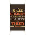 Romney Layoffs Banner