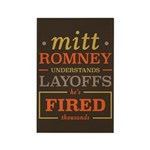 Romney Layoffs Rectangle Magnet