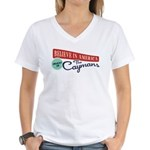 Invest in Caymans Women's V-Neck T-Shirt