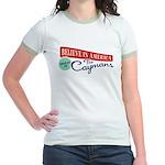 Invest in Caymans Jr. Ringer T-Shirt