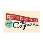 Invest in Caymans 35x21 Wall Decal