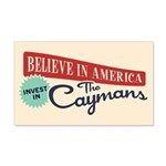Invest in Caymans 20x12 Wall Decal