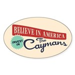 Invest in Caymans Sticker (Oval 10 pk)