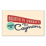 Invest in Caymans Sticker (Rectangle)