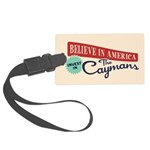 Invest in Caymans Large Luggage Tag