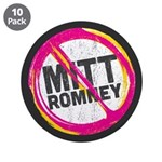 "Anti Romney 3.5"" Button (10 pack)"