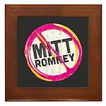 Anti Romney Framed Tile