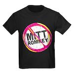 Anti Romney Kids Dark T-Shirt