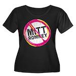 Anti Romney Women's Plus Size Scoop Neck Dark T-Sh