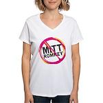 Anti Romney Women's V-Neck T-Shirt