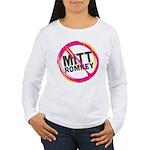 Anti Romney Women's Long Sleeve T-Shirt