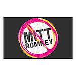 Anti Romney Sticker (Rectangle)