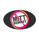 Anti Romney Oval Car Magnet