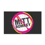 Anti Romney Rectangle Car Magnet