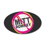 Anti Romney 35x21 Oval Wall Decal