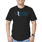 Romney Parody Cretin Men's Fitted T-Shirt (dark)