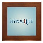 Romney Parody Hypocrite Framed Tile
