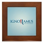 Romney Parody Ignoramus Framed Tile