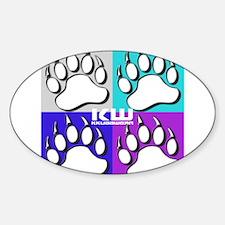 KW KKUBB PAW Sticker (Oval)