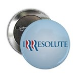 """Romney Parody Irresolute 2.25"""" Button"""