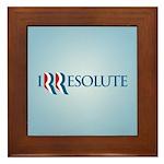 Romney Parody Irresolute Framed Tile