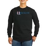 Romney Parody Irresolute Long Sleeve Dark T-Shirt
