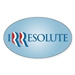 Romney Parody Irresolute Sticker (Oval 50 pk)