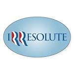 Romney Parody Irresolute Sticker (Oval 10 pk)