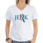 Romney Parody Jerk Women's V-Neck T-Shirt