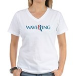 Romney Parody Wavering Women's V-Neck T-Shirt