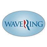 Romney Parody Wavering Sticker (Oval 10 pk)