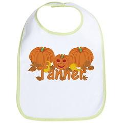 Halloween Pumpkin Tanner Bib