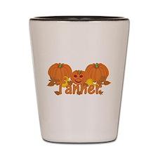Halloween Pumpkin Tanner Shot Glass